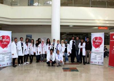 فعاليات اليوم العالمي للإيدز بالتعاون مع الإتحاد العالمي لجمعيات طلبة الطب ومشروع وقاية الشباب 2014