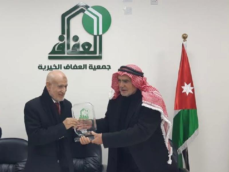 حفل تكريم للمدير التنفيذي لمشروع وقاية الشباب الدكتور عبدالحميد القضاة في جمعية العفاف الخيرية 2018