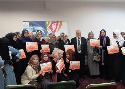 تعاون ودورات تدريبية بين مشروع وقاية الشباب وجمعية اشراقات (منتدى المرأة السورية ) في تركيا 2015