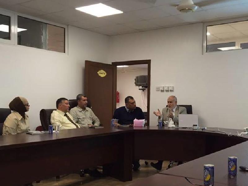 اجتماع إدارة المشروع مع مجلس المنظمات المدنية العاملة في خدمة مخيم اربد 2016