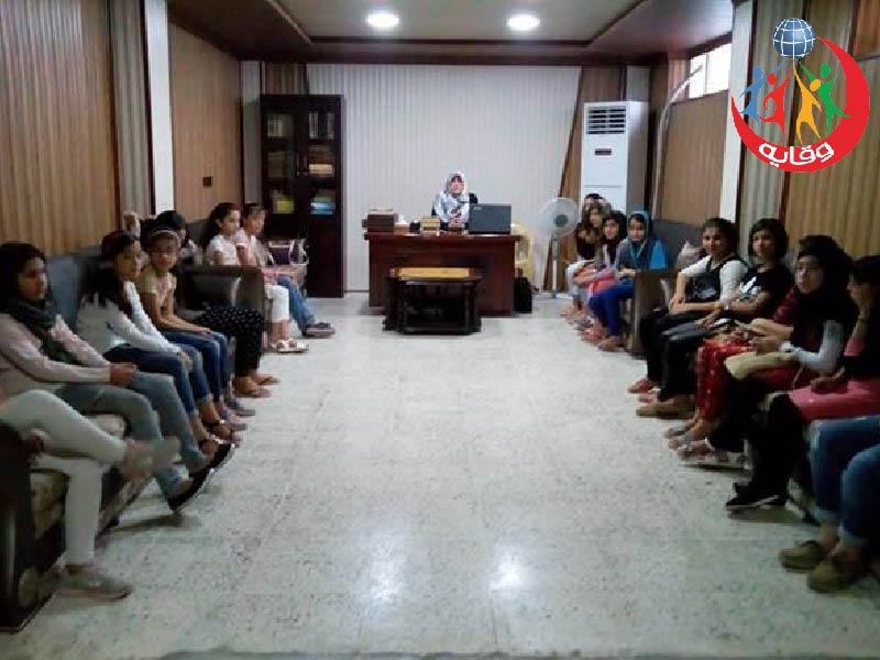نشاط للمدربة في مشروع وقاية الشباب من الأمراض المنقولة جنسياً المدربة قمرية في كردستان 2017