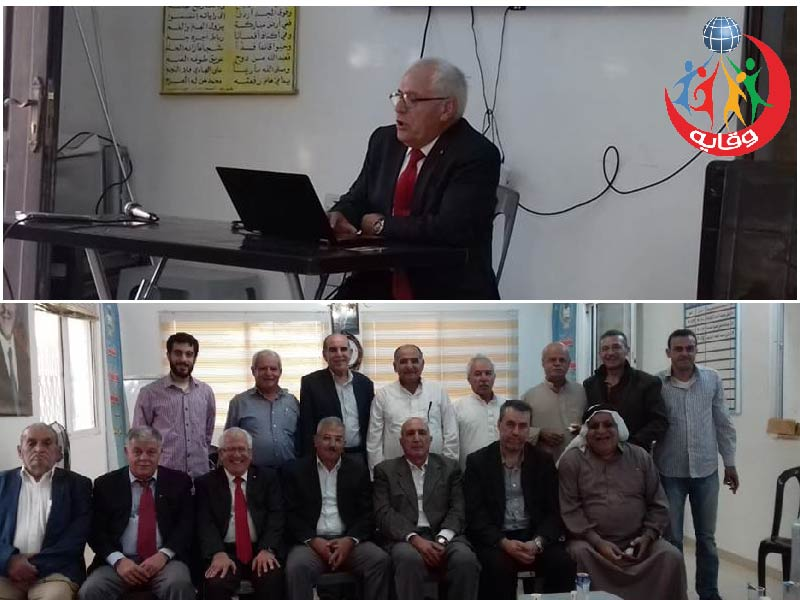 محاضرة في هيئة شباب كفرنجة الجامعيين للمدرب د.رفعت الزغول في الأردن 2018