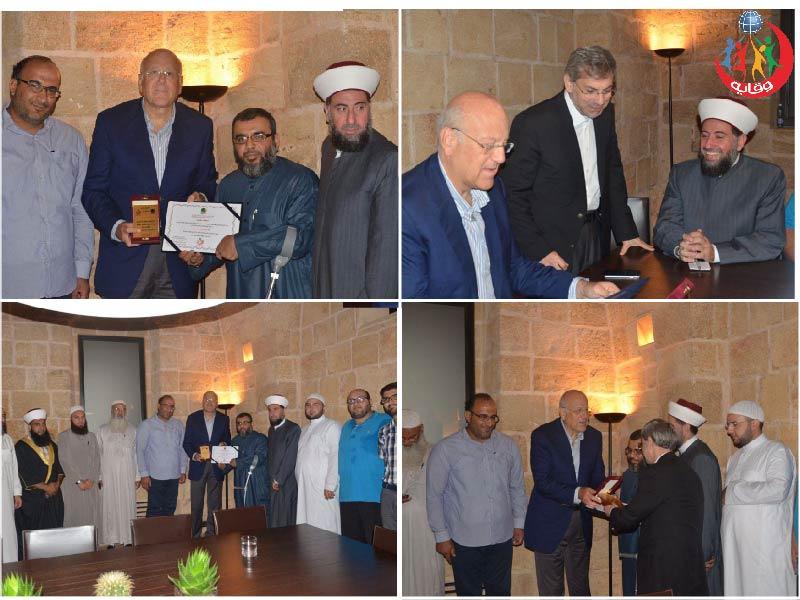 زيارة وفد باسم المشاركين في دورات مشروع وقاية الشباب لدولة الرئيس نجيب ميقاتي طرابلس 2015