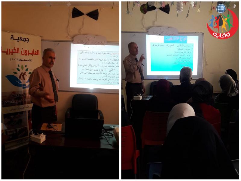 محاضرة حول وقاية الشباب من الأمراض المنقولة جنسياً يقدمها الأستاذ غسان الصيفي في الزرقاء – الأردن 2019