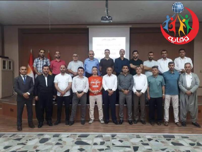 محاضرة للمدرب عبدالله محمد سيويلى حول وقاية الشباب من الأمراض المنقولة جنسياً في كردستان 2019