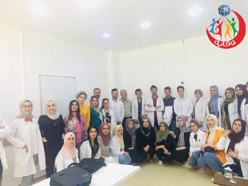 دورة للمدرب هدايت هورامى حول وقاية الشباب من الأمراض المنقولة جنسياً في مستشفى هيوا في كردستان 2019