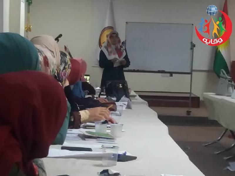 """محاضرة بعنوان """" وقاية الشباب من الأمراض المنقولة جنسياً """" للمحاضره أمل رشيد فقي في كردستان 2019"""