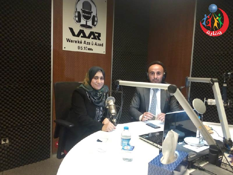 لقاء إذاعي للمدربة بشكوژ طيب فؤاد من كردستان 2019