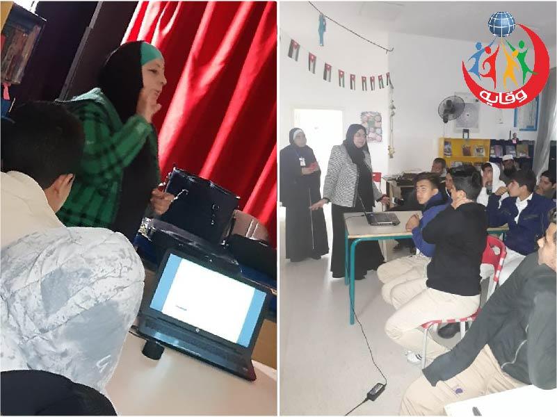 محاضرة للطلاب في الأشرفية للمحاضرتين فايزة شقور وسها العزة – الأردن 2019
