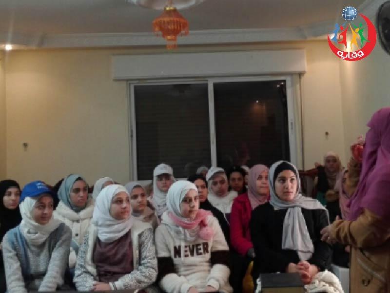 محاضرة لليافعات للمدربة الفاضلة عبير الغزو في إربد – الأردن 2020